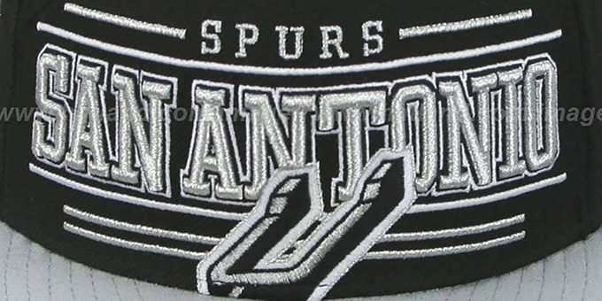 Spurs 'RETRO-SMOOTH' Black-Grey Fitted Hat by New Era