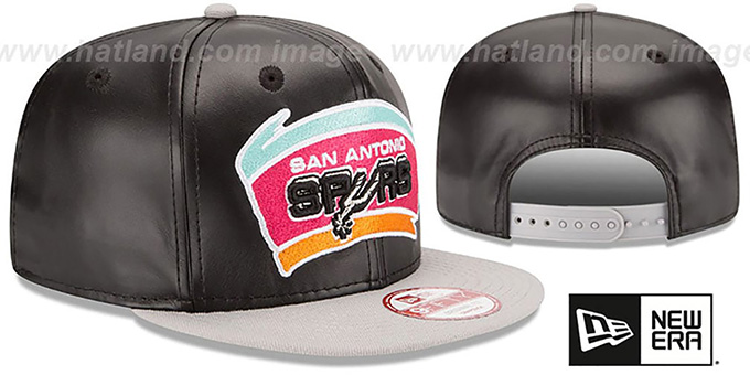 Spurs 'SMOOTHLY STATED SNAPBACK' Black-Grey Hat by New Era
