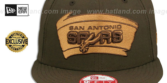 529be7f29c7 ... Spurs  TEAM-BASIC SNAPBACK  Brown-Wheat Hat by New Era ...