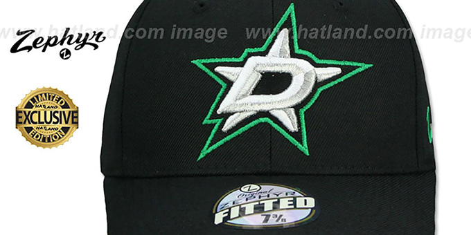 Stars 'SHOOTOUT' Black Fitted Hat by Zephyr