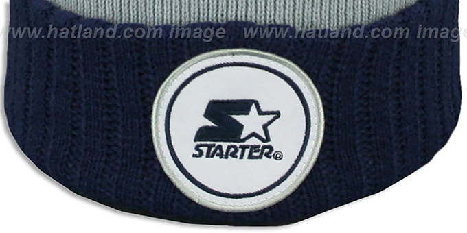 Starter 'S-STAR CLASSIC BOBBLE' Grey-Navy Knit Beanie Hat
