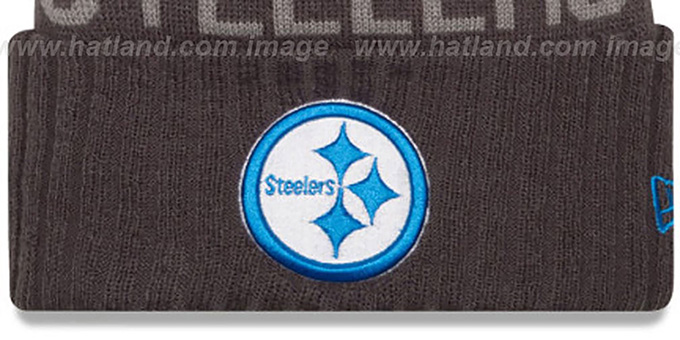 Steelers '2015 STADIUM' Charcoal-Blue Knit Beanie Hat by New Era