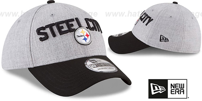 Steelers '2018 ONSTAGE FLEX' Grey-Black Hat by New Era