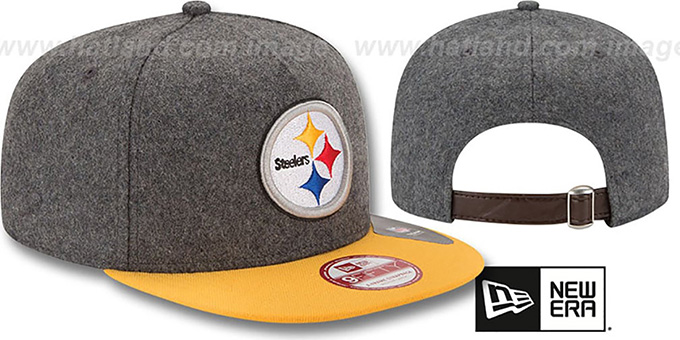 Steelers '2T MELTON A-FRAME STRAPBACK' Hat by New Era