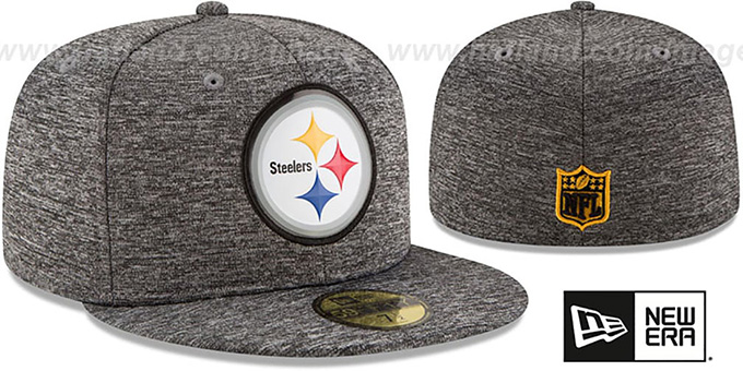 Steelers 'BEVEL' Heather Grey Fitted Hat by New Era