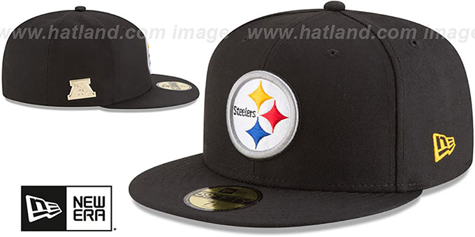 Steelers 'GILDED TURN' Black Fitted Hat by New Era