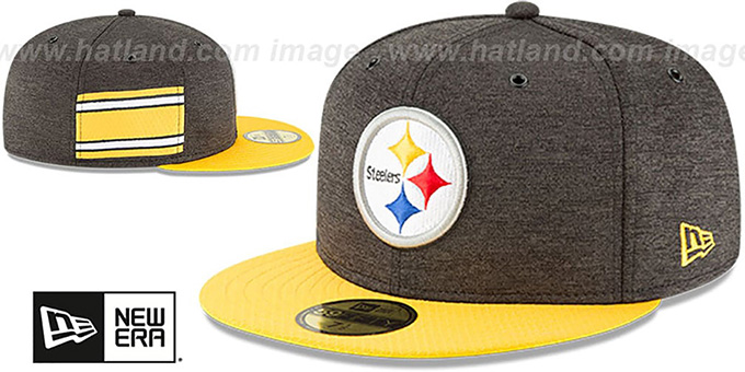 Steelers 'HOME ONFIELD STADIUM' Black-Gold Fitted Hat by New Era
