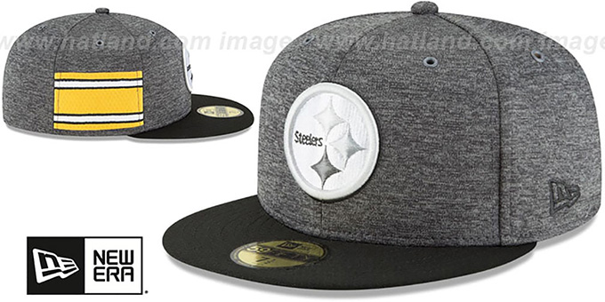 newest collection 4a592 f4759 ... Steelers  HOME ONFIELD STADIUM  Charcoal-Black Fitted Hat by New Era ...