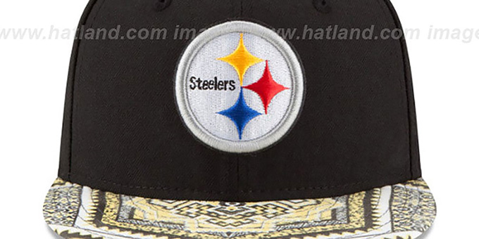 Steelers 'KALEIDOVIZE SNAPBACK' Black Hat by New Era