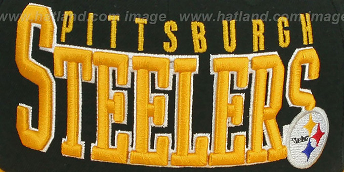 1848713c409 ... Steelers  NFL 2T CHOP-BLOCK  Black-Gold Fitted Hat by New Era ...