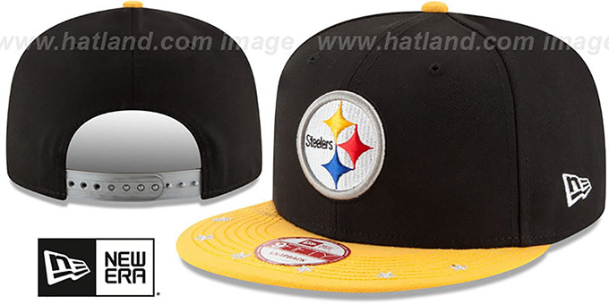 Steelers 'NFL STAR-TRIM SNAPBACK' Black-Gold Hat by New Era