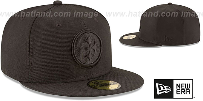 Steelers 'NFL TEAM-BASIC BLACKOUT' Fitted Hat by New Era