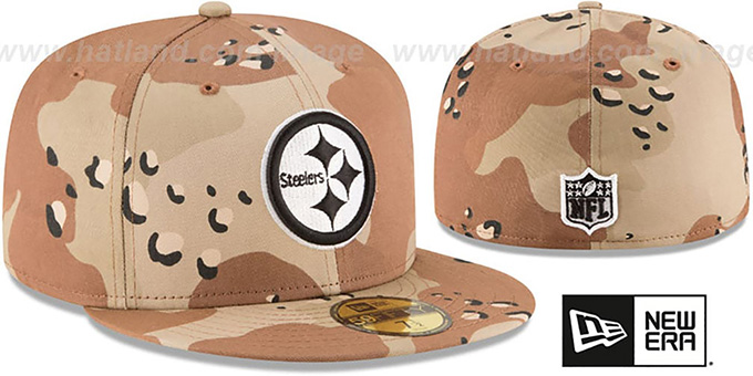 more photos fbd7b de6eb ... Steelers  NFL TEAM-BASIC  Desert Storm Camo Fitted Hat by New Era ...