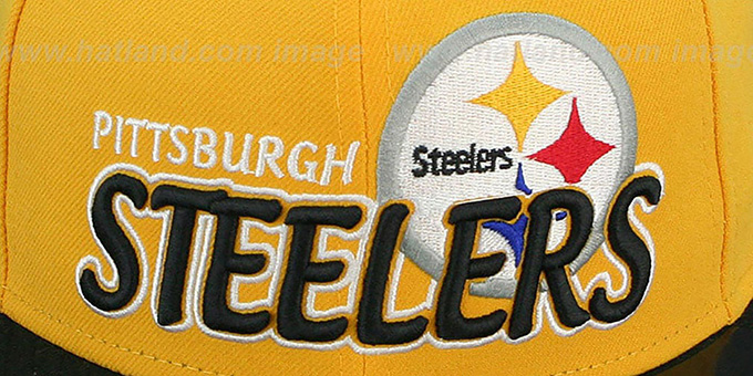 ace9c56f547 ... Steelers  NFL-TIGHT  Gold-Black Fitted Hat by New Era ...