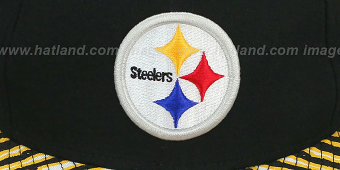 Steelers 'NFL ZUBAZ SNAPBACK' Black Hat by New Era