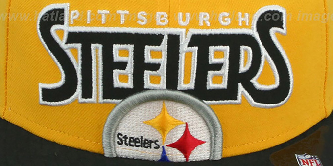 8a89c63e569 ... Steelers  PROFILIN  Gold-Black Fitted Hat by New Era ...