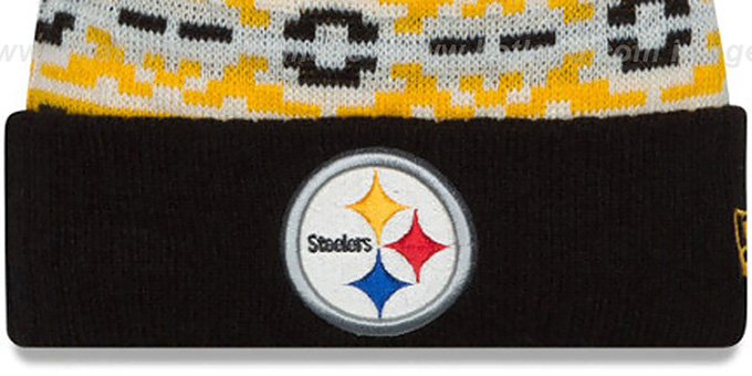 Steelers 'RETRO CHILL' Knit Beanie Hat by New Era
