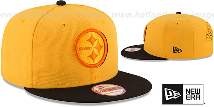 Steelers 'SHADOW SLICE SNAPBACK' Gold-Black Hat by New Era