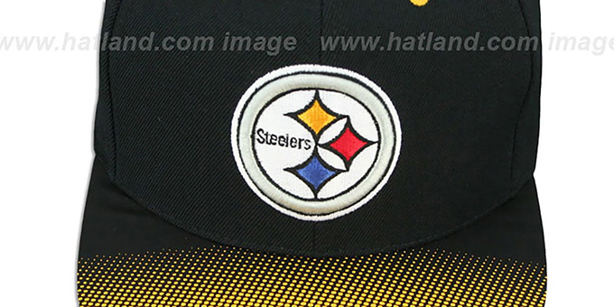 Steelers 'STOP-ON-A-DIME SNAPBACK' Black-Gold Hat by Mitchell and Ness