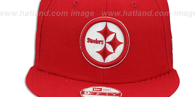 ... Steelers  TEAM-BASIC SNAPBACK  Red-White Hat by New Era ... 6130c645c