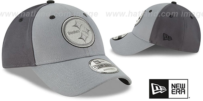 Steelers 'THE-LEAGUE GREY-POP STRAPBACK' Hat by New Era