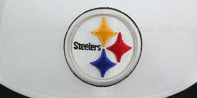 Steelers 'WHITETOP SNAPBACK' White-Black Hat by New Era