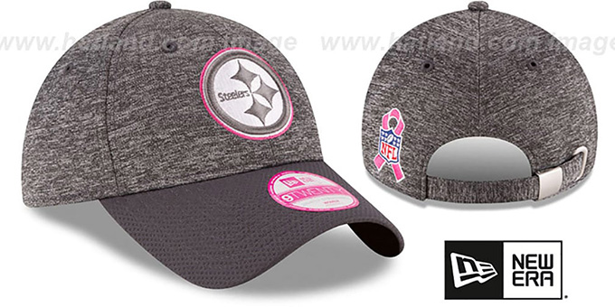 Steelers 'WOMENS 2016 BCA STRAPBACK' Grey-Grey Hat by New Era