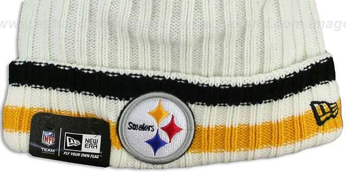 Steelers 'YESTER-YEAR' Knit Beanie Hat by New Era