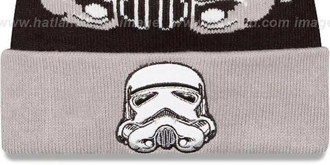 Storm Trooper 'LOGO WHIZ' Black-Grey Knit Beanie Hat by New Era