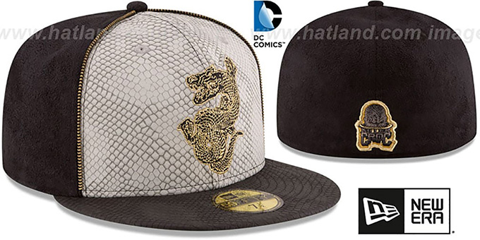 Suicide Squad 'KILLER CROC' Grey-Black Fitted Hat by New Era