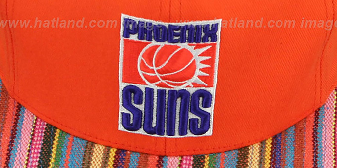 Suns 'NATIVE-STRIPE SNAPBACK' Orange Hat by Mitchell & Ness