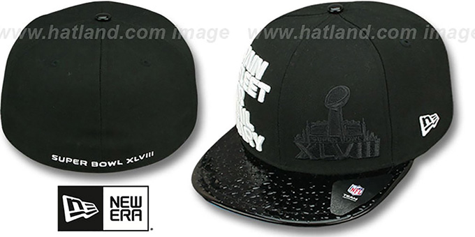 Super Bowl XLVIII 'STATEMENT' Black Fitted Hat by New Era