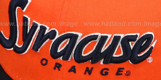 Syracuse 'SNAP-IT-BACK SNAPBACK' Orange-Navy Hat by New Era