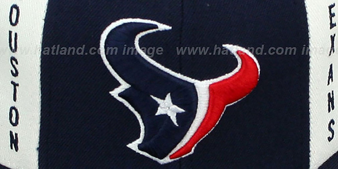 Texans 'AJD PINWHEEL' Navy-Red Fitted Hat by Reebok