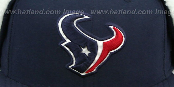 Texans 'NFL-DOGEAR' Navy Fitted Hat by New Era