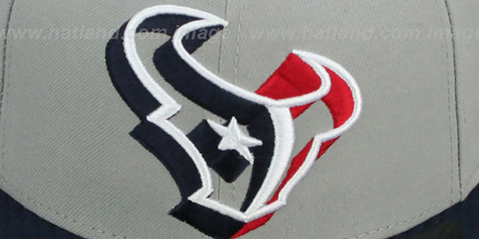 Texans 'TRACE-POP' Grey-Navy Fitted Hat by New Era