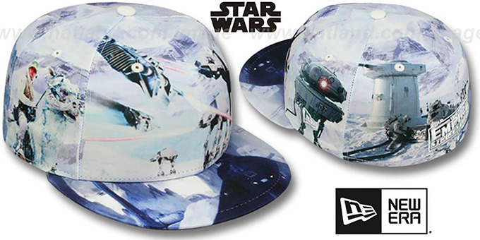 The Empire Strikes Back 'ALL-OVER BATTLE' Fitted Hat by New Era