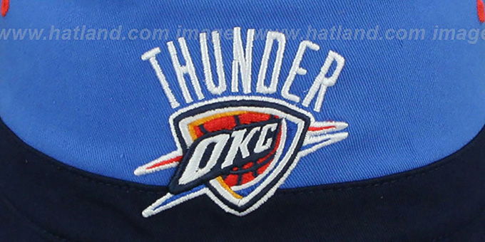 Thunder 'COLOR-BLOCK BUCKET' Gold-Blue-Navy Hat by Mitchell and Ness