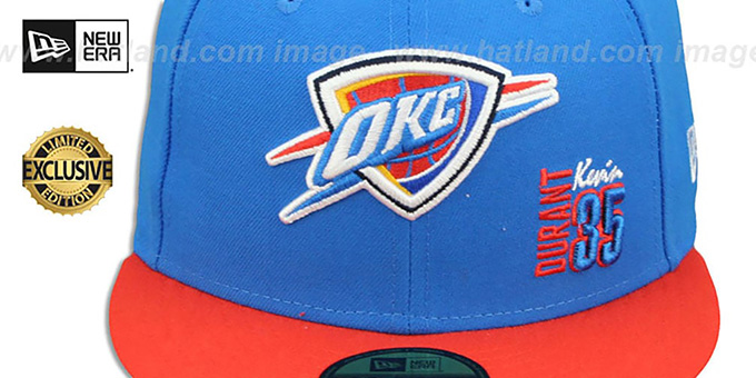 Thunder 'KEVIN DURANT 35' Blue-Orange Fitted Hat by New Era