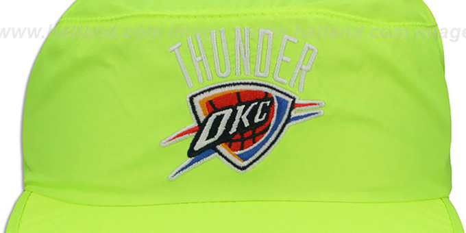 Thunder 'NEON PAINTER' Yellow Hat by Mitchell and Ness