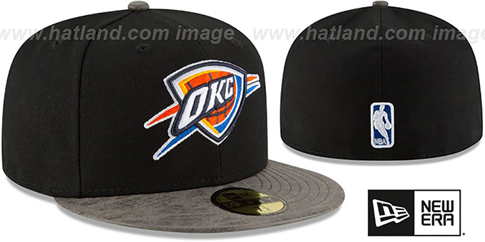 Thunder 'RUSTIC-VIZE' Black-Grey Fitted Hat by New Era