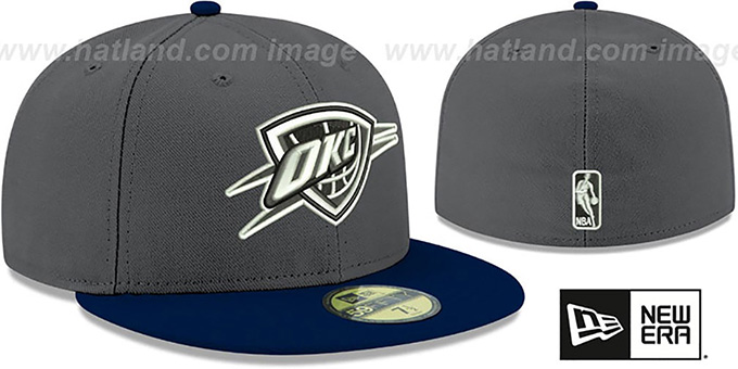 Thunder 'SHADER MELT-2' Grey-Navy Fitted Hat by New Era