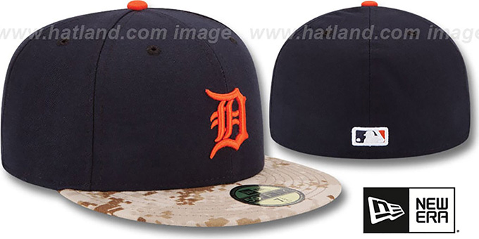 Tigers '2015 STARS N STRIPES' Fitted Hat by New Era