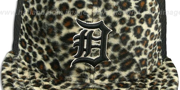 Tigers CHEETAH 'ANIMAL-FUR MESH-BACK' Fitted Hat by New Era