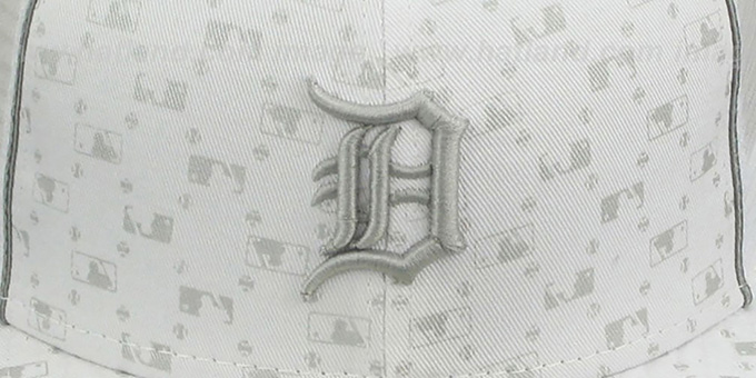 Tigers 'MLB FLOCKING' MESH-BACK White Fitted Hat by New Era