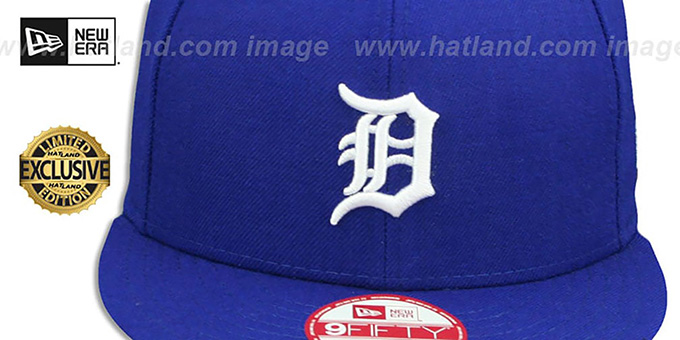 Tigers 'TEAM-BASIC SNAPBACK' Royal-White Hat by New Era
