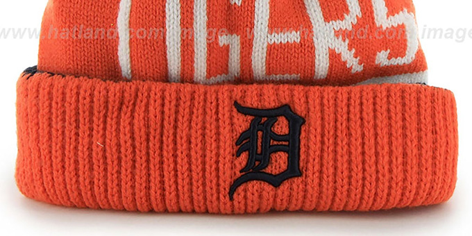 Tigers 'THE-CALGARY' Orange-Navy Knit Beanie Hat by Twins 47 Brand