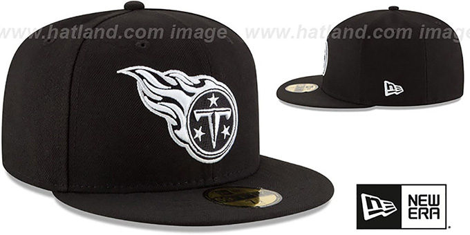 Titans 'NFL TEAM-BASIC' Black-White Fitted Hat by New Era