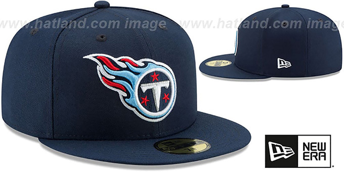 Titans 'NFL TEAM-BASIC' Navy Fitted Hat by New Era