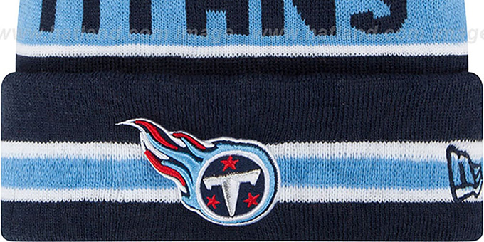 Titans 'THE-COACH' Navy Knit Beanie Hat by New Era